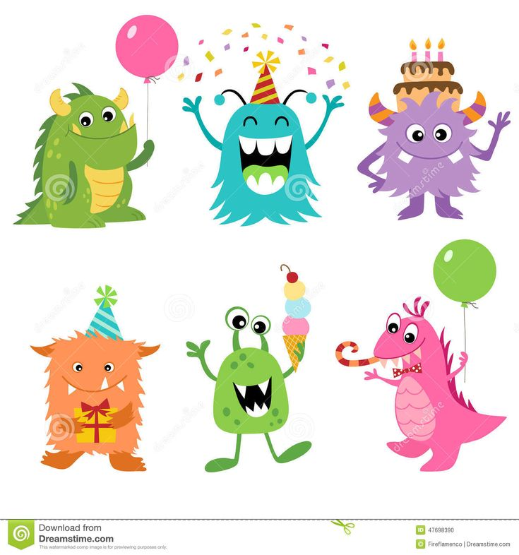 Birthday Monsters - Download From Over 55 Million High Quality Stock Photos, Images, Vectors. Sign up for FREE today. Image: 47698390