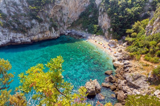 Fakistra Beach, Pelion, Greece: A long path winds its way from Damouchari past olive groves and historic sites onto the protected cove where you'll find Fakistra Beach. The surrounding rock walls protect a picturesque inlet, complete with a waterfall and caves. This secluded spot requires a bit of a trek, but the atmosphere makes the trip well worth it.