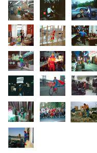 """Dulce Pinzón / Superheroes :  série de photos de Dulce Pinzón sur des immigrés mexicains travaillant à New York. Elle a pris en photos des travailleurs dans leurs tâche quotidiennes, mais en tenue de """" superhéroes"""" ( Gracias Marie)"""