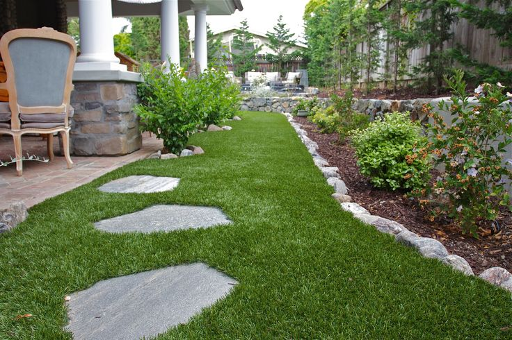 Add a touch of elegance to any backyard with Genesis Turf. www.online-turf.com #ArtificialTurf #ArtificialGrass #SyntheticLawn #SyntheticGrass #PetTurf #Lawn #Landscape #Backyard
