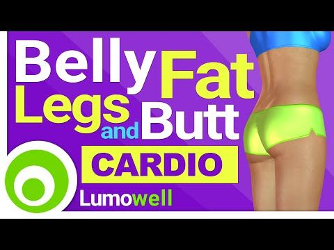 Cardio to Lose Belly Fat and Tone Legs and Butt - 25 Minute Workout - YouTube