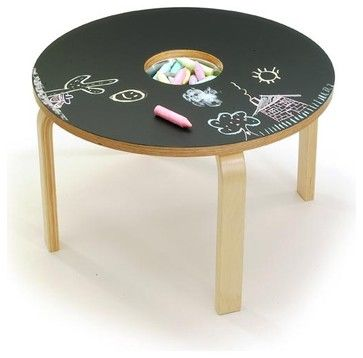 Woody Chalkboard Table modern kids tables, the price is totally excessive but the design is totally doable.