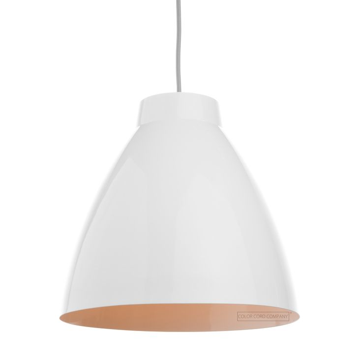 12 best pendant light shades metal images on pinterest light white gloss exterior white gloss interior compatible with our standard pendant light cords compatible with our standard socket with ring for diy mozeypictures Gallery