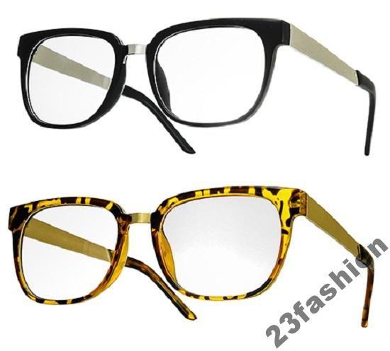 STYLOWE Okulary METAL Duze Oprawki KUJONKI zerówki