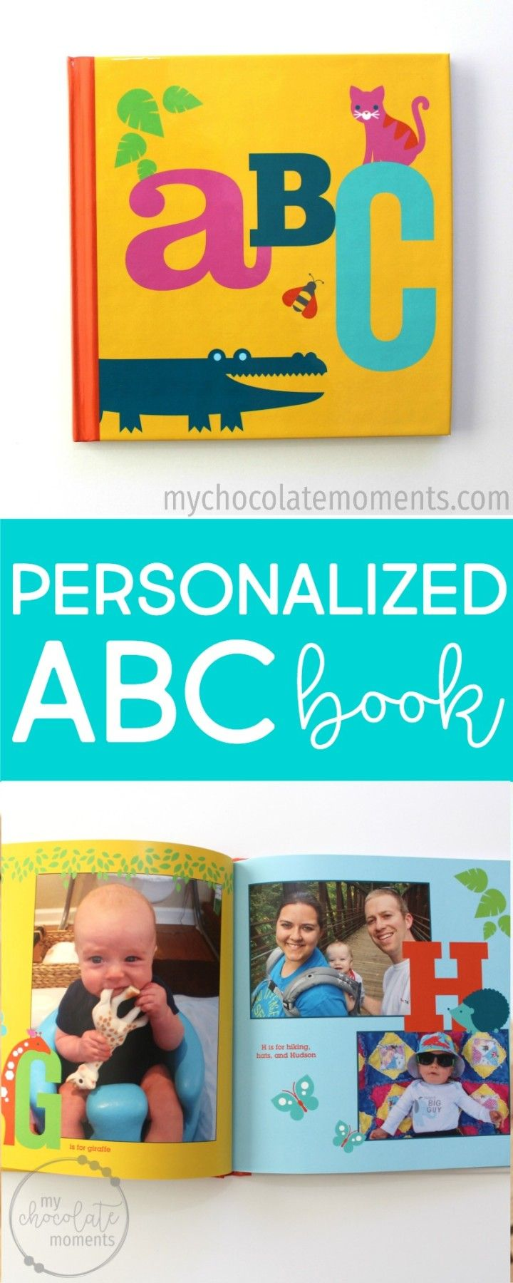 how to make a personalized ABC book for your child with Shutterfly photo books
