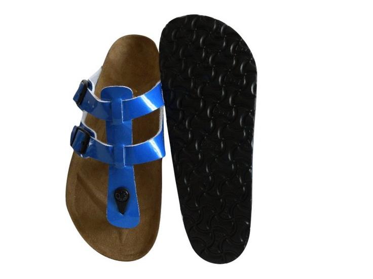 Birkenstock Outlet: Birkenstock Sparta Sandals Blue Patent
