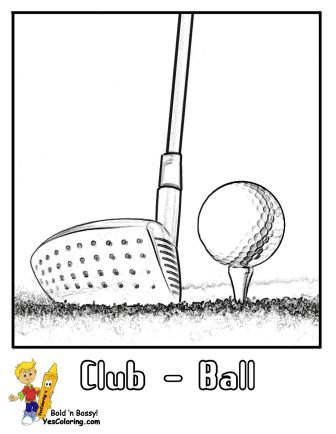Find This Pin And More On Two Fisted Golf Coloring Pages By Yescoloring