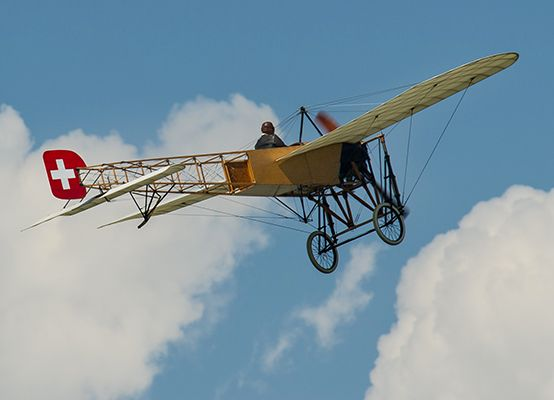 The legendary Blériot XI at the AIR14 airshow in Payerne, Switzerland