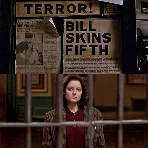 Jodie Foster as Clarice Starling in The Silence of the Lambs (1991), based on the Thomas Harris novel
