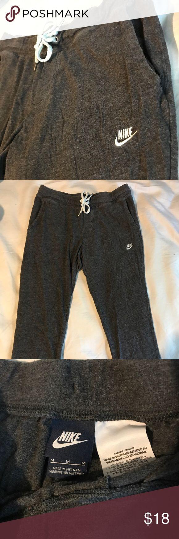 Spotted while shopping on Poshmark: Nike grey joggers.! #poshmark #fashion #shopping #style #Nike #Pants