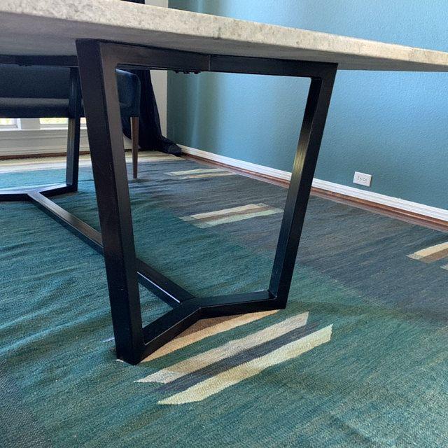 Steel Dining Table Frame Aura Metal Table Legs Steel Table Legs