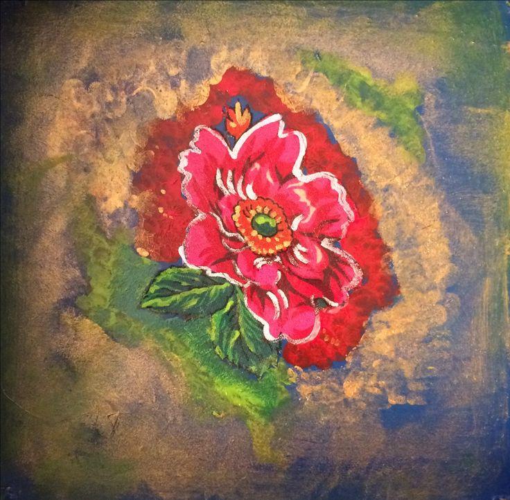 Romani Home Hungary pattern gypsy style roma interior gold blue rose