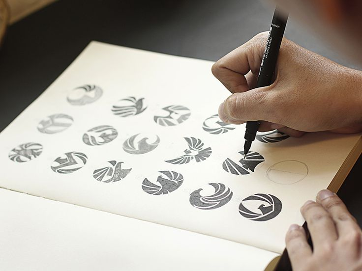 Logo sketching