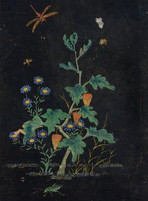 "Shin Saimdang's ""Chochungdo"" (Grass and Insect painting)"
