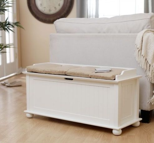 End Of The Bed Bench/storage Trunk For Storing Files And Office