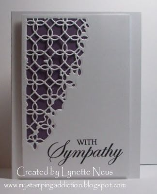 My Stamping Addiction: Simple Sympathy.  Distressed Addington Collage die from Memory Box