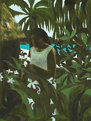 I absolutely love Ray Crooke (Ray Crooke | Girl with Frangipani 1972 oil on canvas on board, 101 x 76.5 cm)