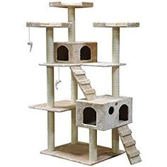 http://Amazon.com : Go Pet Club Cat Tree, 50W x 26L x 72H, Beige : Pet Supplies http://petplaybale.com/cats-beds-furniture-buyers-guide.html
