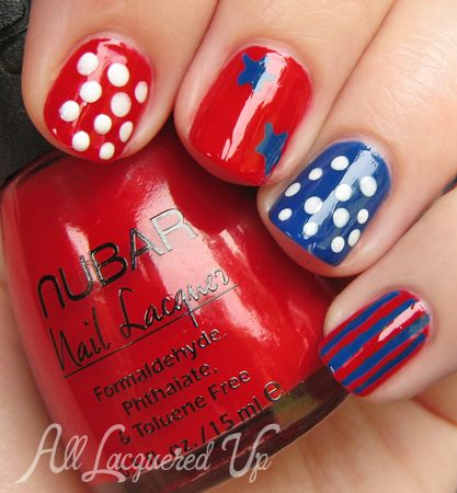 9 Patriotic Nail Tutorials- all lacquered up