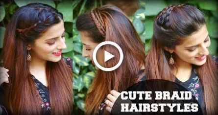 three CUTE & EASY On a regular basis Headband Braid Hairstyles for College, School, Work / Indian