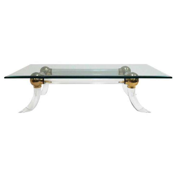 Vintage And Unusual Heavy Duty Tubular Lucite Coffee Table