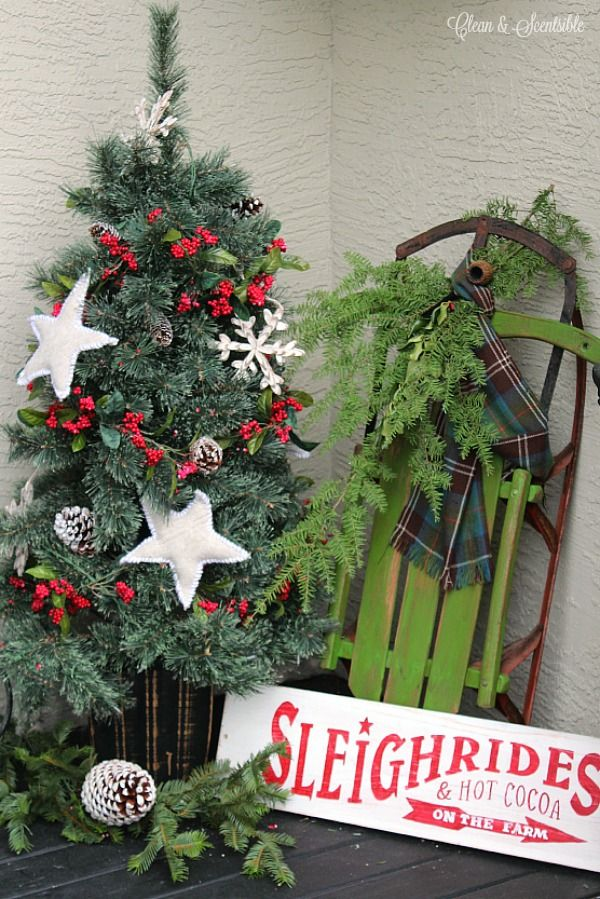 Christmas Porch Christmas Porch Rustic Christmas And