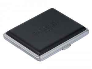 Stylish Cigarette Case For Men Balmain Black Leather. You can choose your own engraving and creat a unique gift.