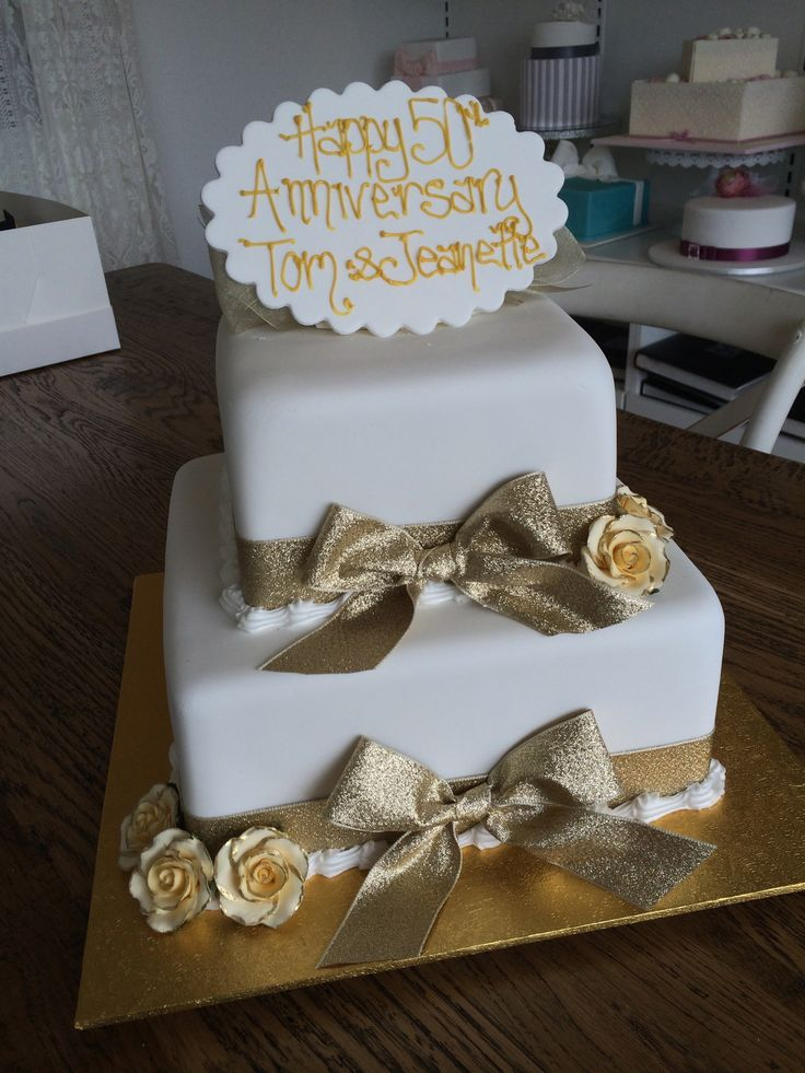 a golden anniversary - Sweet Designs by Claire #specialoccasion #custom #design #cake