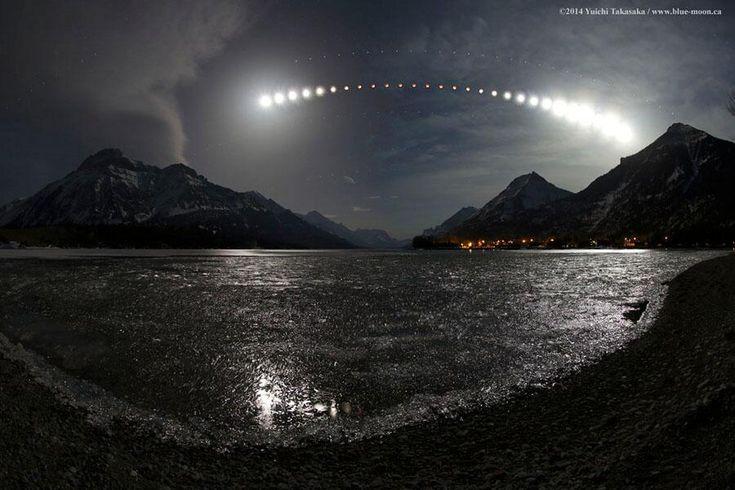 Waterton Lake Eclipse by Yuichi Takasaka