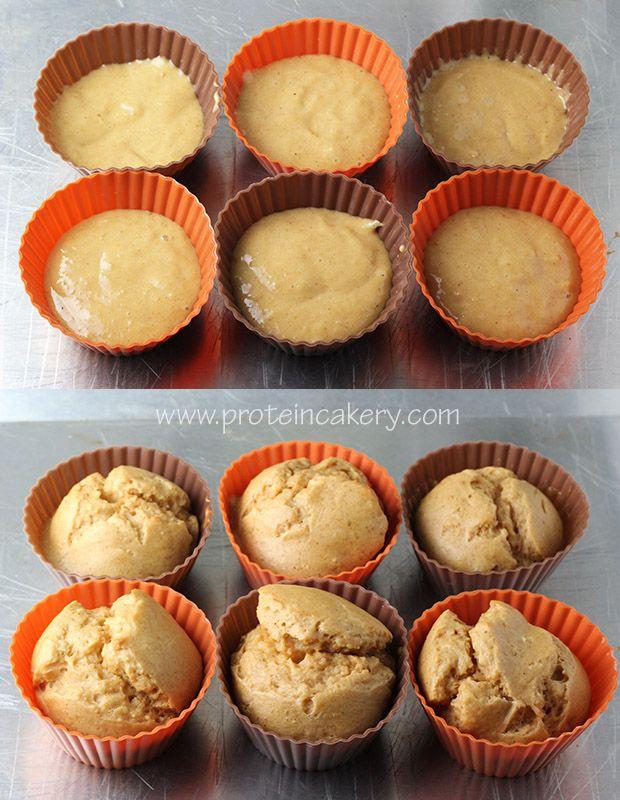 PB&J Protein Cupcakes with Jamie Eason's Peanut Protein - Andréa's Protein Cakery #cupcakes #healthyfood