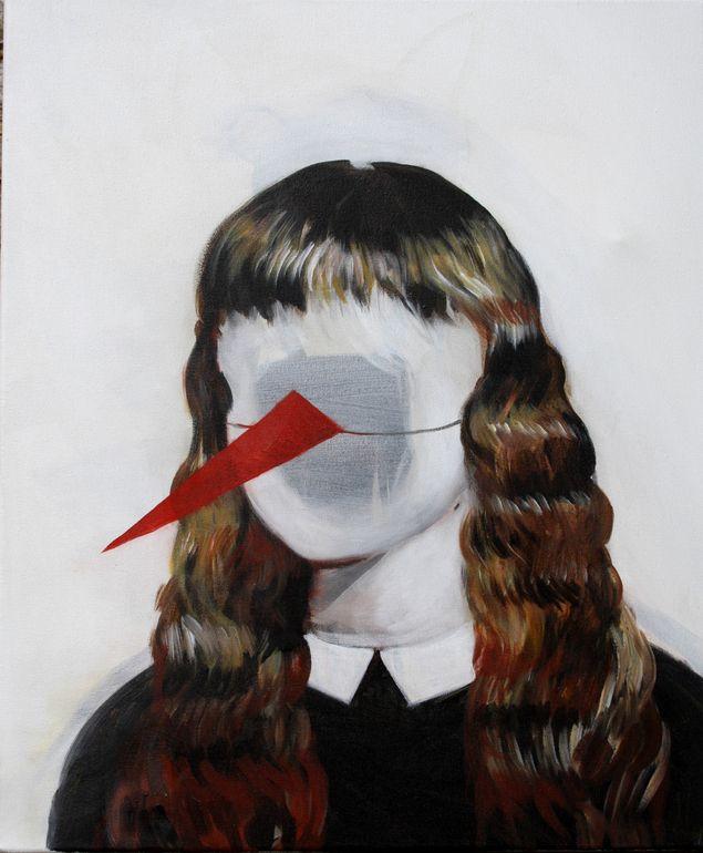 """Hanna Ilczyszyn; Acrylic 2013 Painting """"Nos"""""""