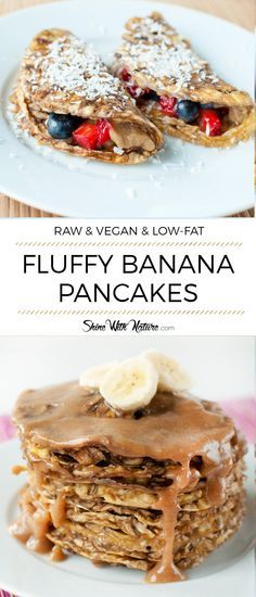 Raw Fluffy Banana Pancakes | ShineWithNature.com