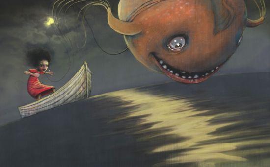 En fisk til Luna by Lisa Aisato. A beautifully written and illustrated children's book.