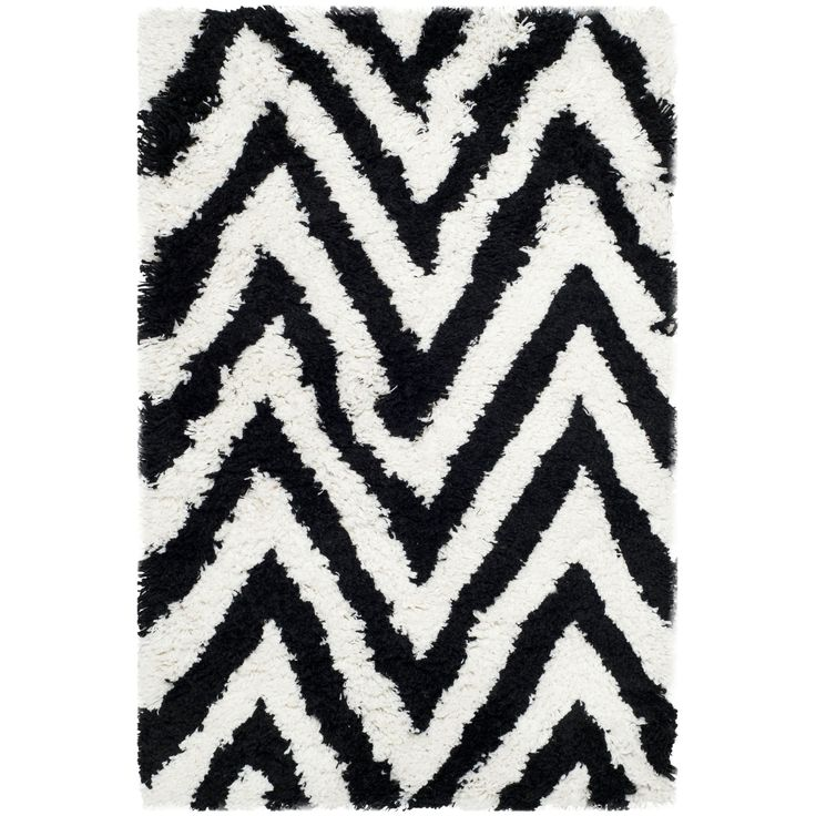 safavieh handmade chevron black shag rug 26 x 4 sg250b 24 size 26 x 4 california shag black 4 ft