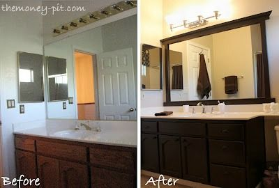 How to frame a bathroom mirror without mitering the corners