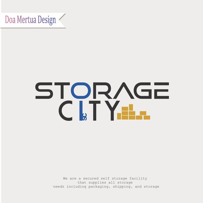 Design a logo for a Storage City, a modern, secure self storage facility by doamertua