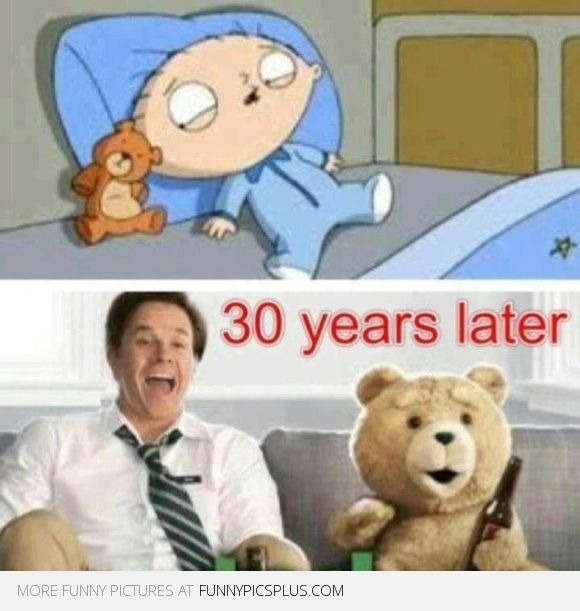 Two of my favourite things.... Now I know why. Family Guy is Ted
