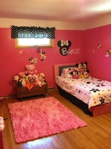 8 best mila 39 s minnie nursery images on pinterest bedroom ideas bedroom decor and nursery ideas - Mini mouse bedroom ...