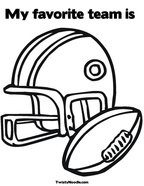 my favorite team is coloring page - Football Teams Coloring Pages