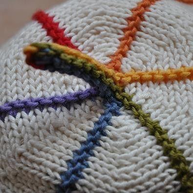 Sød og sjov børnehue, som kan varieres i det uendelige, både i strikning, farver og størrelse. Kun fantasien sætter grænser. På toppen kan sættes en pompon eller et stykke I-cord. Pind 2½. Læs mere ...