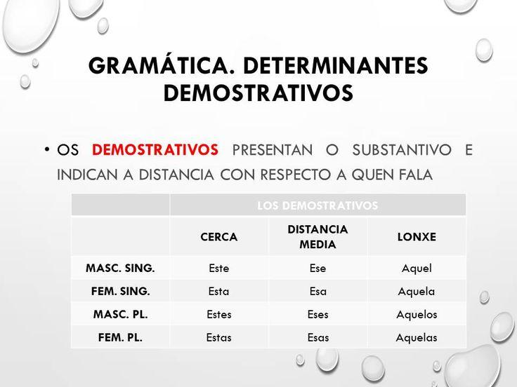 Demostrativos galego