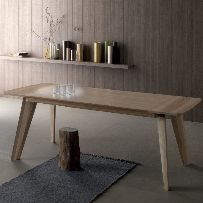 Fred This wooden table brings a touch of tradition and relax to any environment. It's perfect if you need a dining table but also an original piece for your living room.
