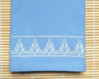 Toalla de té plato toalla sueco tejido azul claro por SnowboundMe
