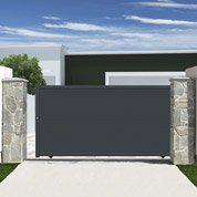 Portail Coulissant Aluminium Rioave Gris Anthracite L 360 X H 180 Cm Portail Coulissant Abri De Jardin Portail