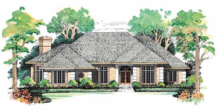 Prairie House Plan with 2916 Square Feet and 3 Bedrooms from Dream Home Source | House Plan Code DHSW01939