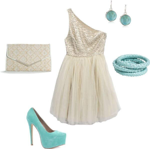 turquoise love, created by bbn0717 on Polyvore