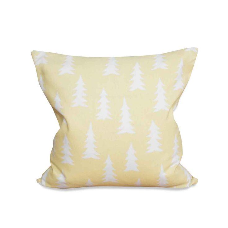"""Tolle Kissenhülle in sommerlichem Pastellgelb mit weißem """"Gran""""-Print.&nbsp…"""