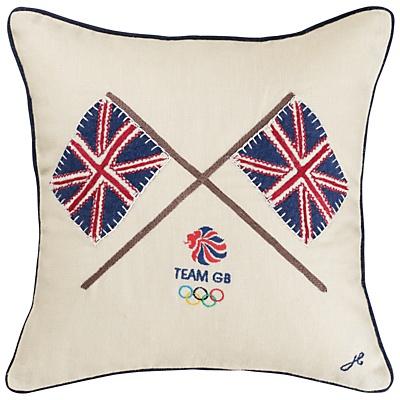 Buy London 2012 Flags Team GB Cushion online at JohnLewis.com - John Lewis