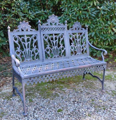 Victorian Cast Iron Bench To Auction To Auction Cast