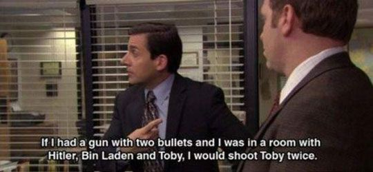 Love thiss(:Theoffice, Offices Humor, Poor Toby, Funny Pictures, Offices Quotes, The Offices, Michael Scott Quotes, Michaelscott, Best Quotes